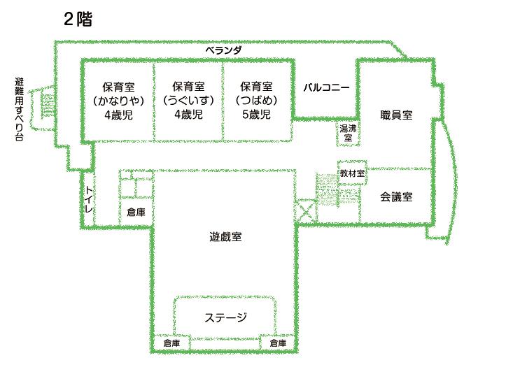園舎間取図 2階